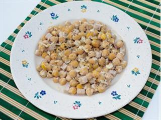 Garbanzos con Queso light